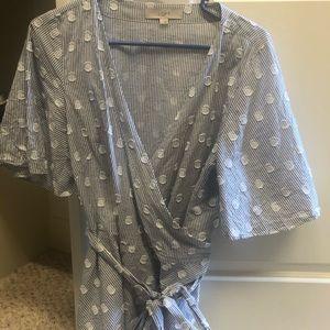Loft wrap shirt